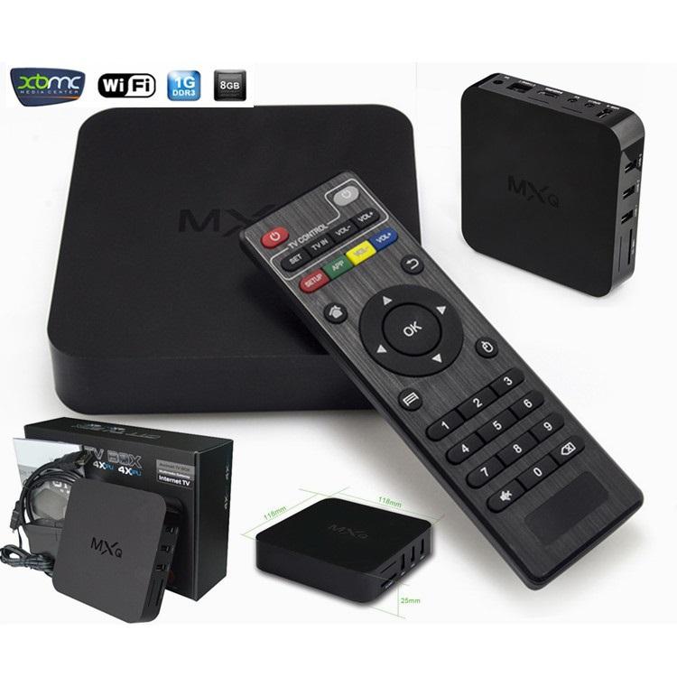 Wholesale Original MXQ Android 4.4 TV BOX Amlogic S805 Quad Core IPTV with KODI XBMC Support H.265 Smart Media Player(China (Mainland))