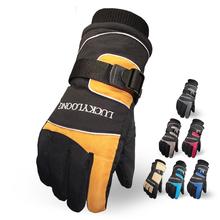 Новый мужская лыжная перчатки для сноуборда перчатки снегоход мотоцикле зимние перчатки ветрозащитный водонепроницаемый унисекс снег перчатки
