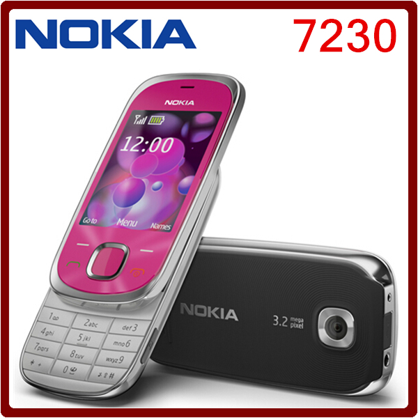 7230 Original Nokia 7230 Bluetooth FM JAVA 3.15MP Unlocked cell Phone One year warranty Free Shipping(China (Mainland))