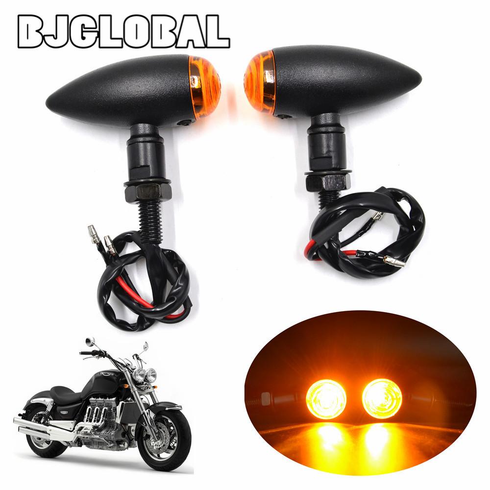 Black Bullet Metal Motorcycle Turn Signal LIght Motocross Indicator Lights For Harley Mini Sportster Dyna Softail Bobber Chopper(China (Mainland))