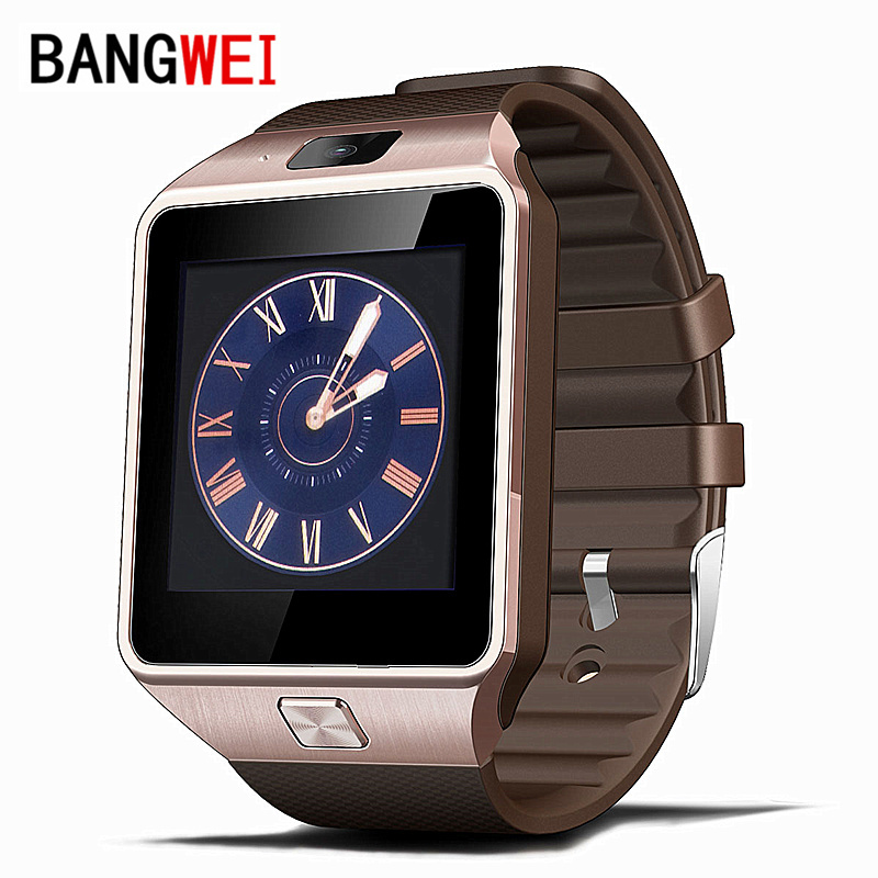 BANGWEI Smart Watch Clock With Sim Card Slot Push Message Bluetooth Connectivity Android Phone Better Than DZ09 Smartwatch(China (Mainland))