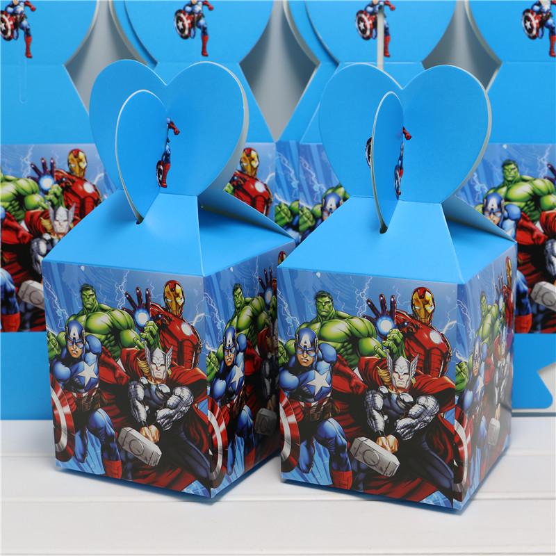1bag 10pcs baby shower favor cartoon avengers alliance favor box candy