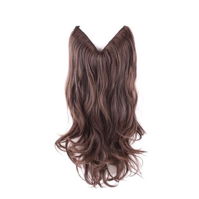 20 Multi Color Fish Line Hair No Clips Hair Extension Brazilian