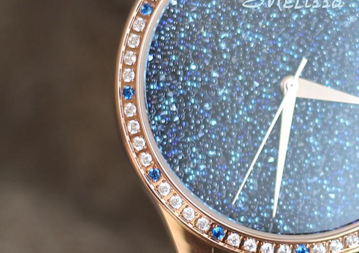 Мелисса Леди женские Наручные Часы Кварцевых Часов Лучший Моды Браслет Bling Звезд Роскошные Стразы Кожа Девушки Подарок На День Рождения