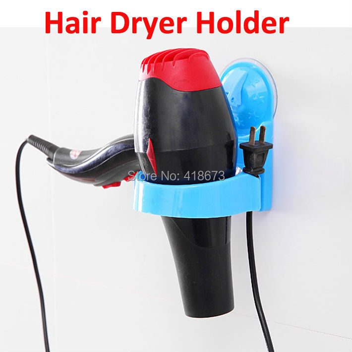 Fashion Innovative Wall-mounted Hair Dryer Rack Space Aluminum Made Bathroom Wall Shelf Storage Hairdryer Holder - LightHouse Ltd. store
