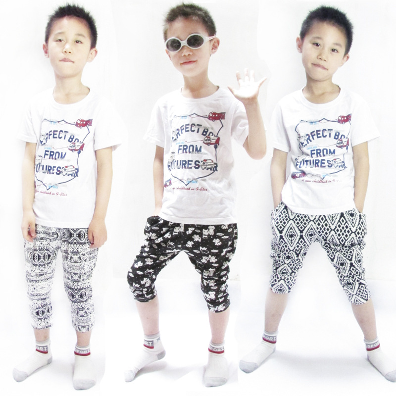 2016 boy girl Trousers Capris casual cats seven five harem Pants pocket kid clothing children wear clothes(China (Mainland))