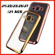 luxury cover case for samsung galaxy J1 J2 J3 J7 J1 ace J5 back soft tpu ultra thin case for samsung J5 J7 J1 cases phone gold
