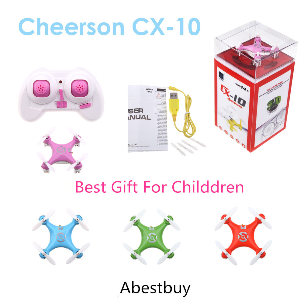 Free Shipping Best Cheerson CX-10 CX10 2.4G Remote Control Toys 4CH 6Axis RC Quadcopter Mini Gift For Child(China (Mainland))