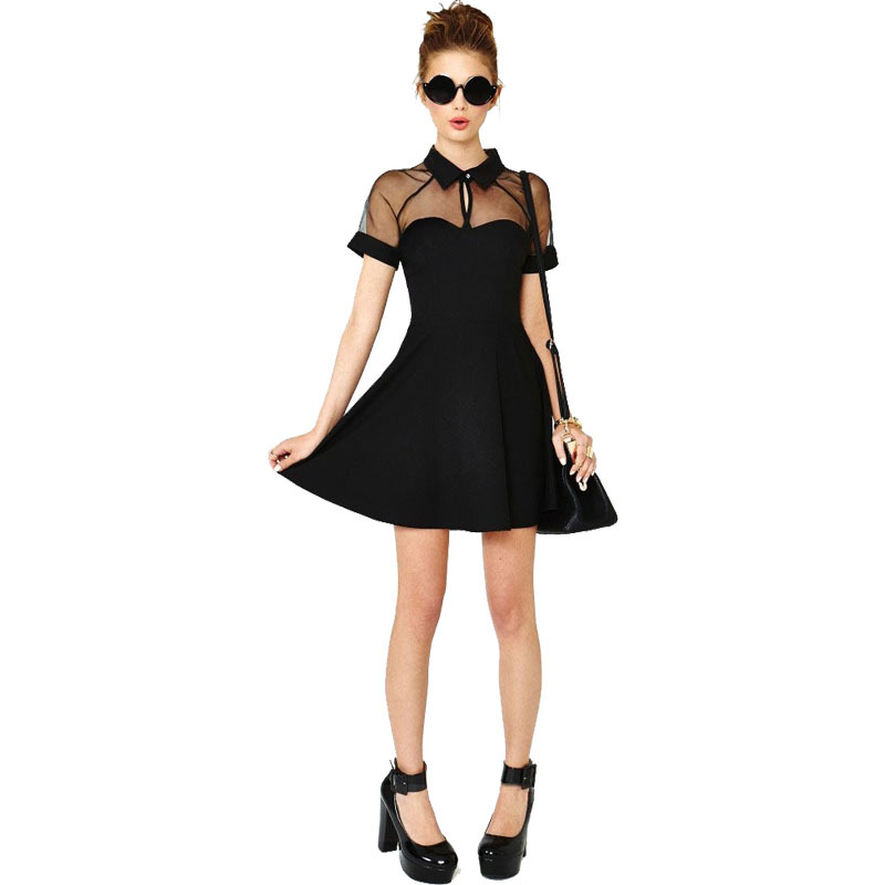 Women Summer Dress New 2015 Fashion Sale Patchwork Casual Spring Vintage Lace Sexy Bandage Novelty Evening Ladies Dresses LS485(China (Mainland))