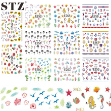 Buy 1x NEW 3d Design Coconut Tree Sea World Nail Art Decals Water Transfer Tips Wraps Tools of Nail Stickers E248-258 for $1.75 in AliExpress store