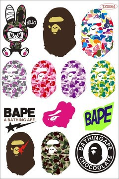 BAPE Car Sticker Suitcase Luggage Fridge Skateboarding Notebook Laptop Bicycle Decal TZ0064 - SUGAR LADY store