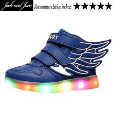 Colorful female male Luminous LED Neon Lihgt up Shoes Men femme Lasers Flashlight chaussure USB CHarging wing shape Shoelaces(China (Mainland))