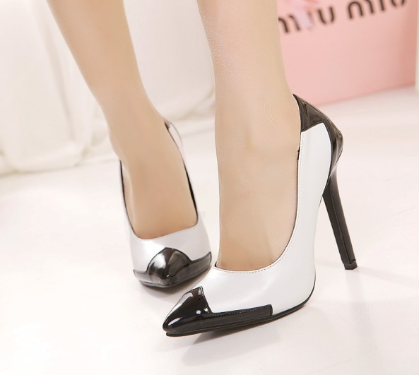 And White High Heel Shoes