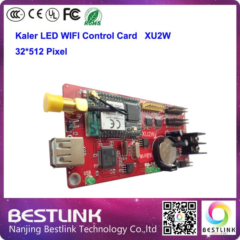 XU2W led controller card 48*1536 pixel KALER wifi control card USB port for p10 led moving sign p10 led display module p10 led(China (Mainland))