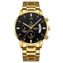 NIBOSI 高級腕時計メンズ腕時計スポーツ防水時計ファッションレロジオ Masculino シルバーブルークォーツ時計腕時計 Saat(China)