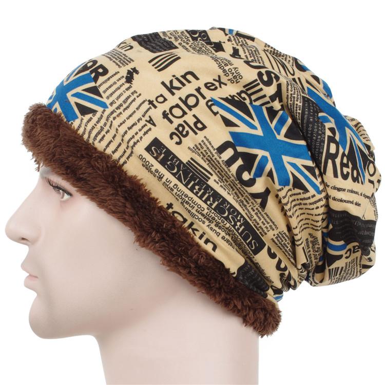 Men winter Baggy hat uk flage design Beanie Skull Hat fleece liner Ski Cap(China (Mainland))