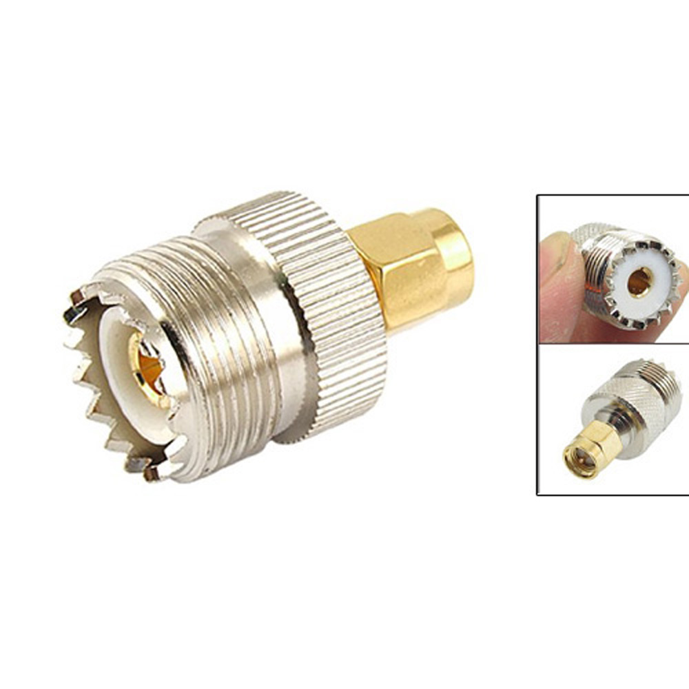 2015 SZS Hot Hot Sale UHF SO-239 SO239 Female to SMA Male Plug Connector Coaxial Adapter(China (Mainland))