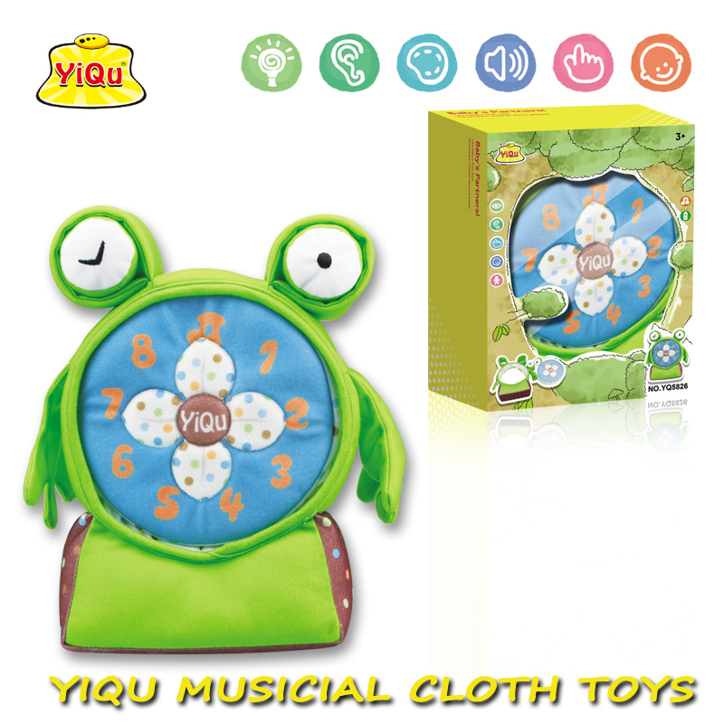 new free shipping baby music fabric toys baby gift Musical animals plush toys frog toys(China (Mainland))