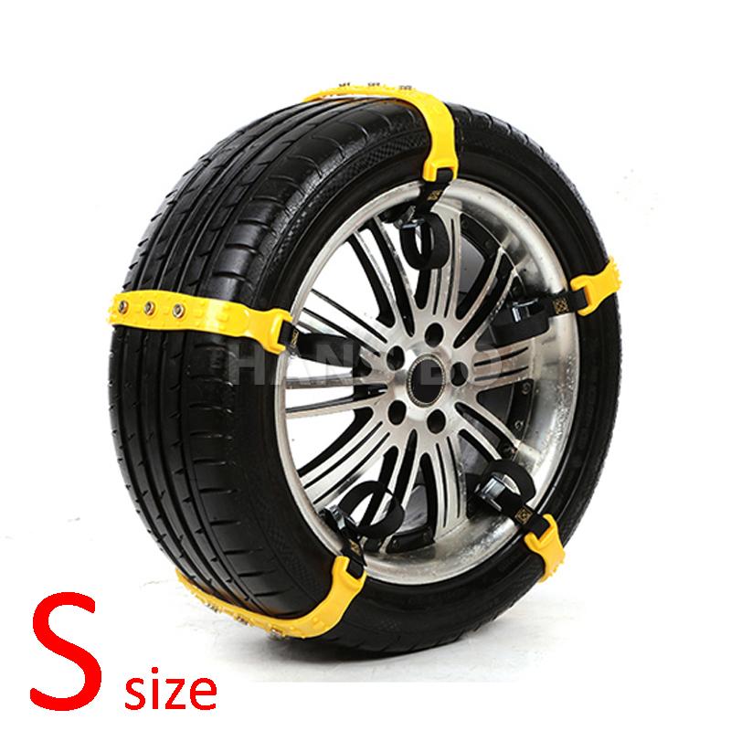 10pcs/set S size Car Winter Snow Tire Anti-skid Chains Thickened Beef Tendon Vehicles Wheel Antiskid TPU Chain 145-175mm Types(China (Mainland))