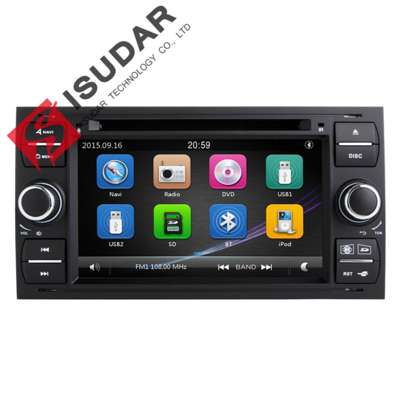 Two Din 7 Inch In dash Car DVD Player For Ford/Mondeo/Focus/Transit/C-MAX With 3G USB GPS Navigation Radio BT 1080P Ipod Map<br><br>Aliexpress