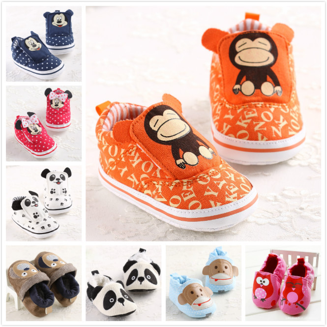 Retail drop shopping! boys girls shoes monkey dog new born baby pre walker shoes, sapato baby girl first walker babies shoes(China (Mainland))
