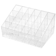 Useful 24 Compartments Clear Lipstick Makeup Cosmetic Stand Display Sundry Makeup Storage Holder Cosmetic Case(China (Mainland))