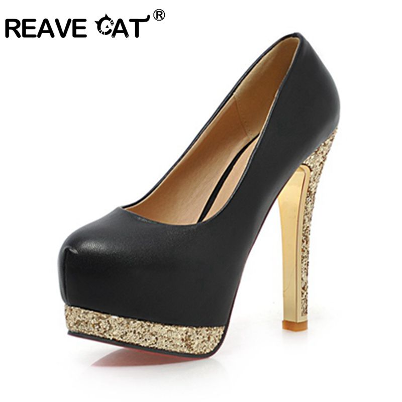 New Female high heels Pumps Platform shoes Women's shoes Big Size33-42 Party Round toeBlack Pink Apricot Beige Thin heels Rubber(China (Mainland))