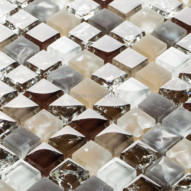 brown color ice crackle glass mosaic tiles kitchen backsplash mosaic bathroom shower bedroom wall dining room backsplash
