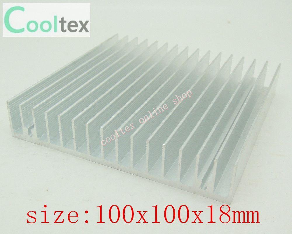 Free Shipping 10pcs 100x100x18mm Aluminum HeatSink,radiator,Chip RAM CPU GPU VGA LED IC HeatSink for Electronics
