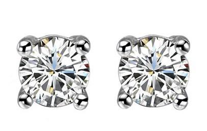 Natural Diamond Earring GVBORI 18K White Gold Earrings For Women Wedding/Engagement Gift Fine Jewelry Free Shipping GIC<br><br>Aliexpress
