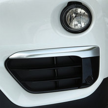 Buy BMW X1 F48 2016 2017 Chrome Front Fog Light Lamp Eyelid Stripe Cover Trim Car Accessories for $24.00 in AliExpress store
