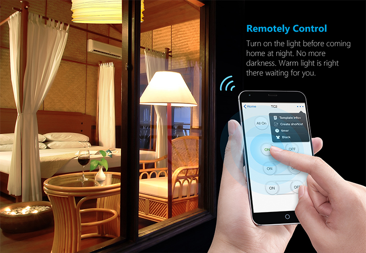 US Standard Broadlink TC2 1 Gang Wifi Wall Light Touch Switch 433MHZ IOS Android Remote Control 110~150V Smart Home Automation