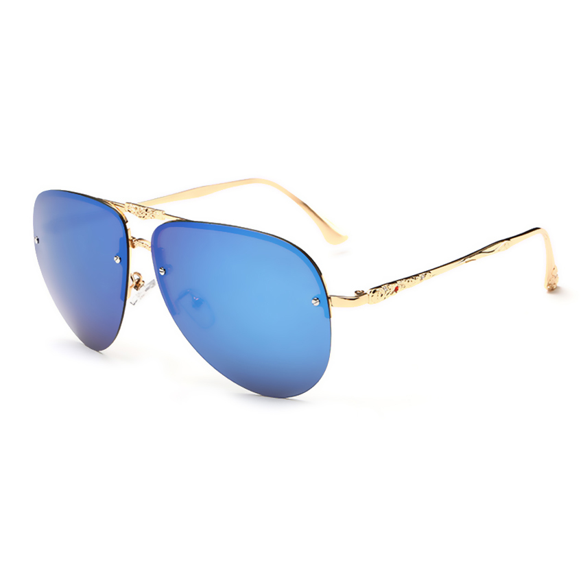 Frameless Vintage Glasses : Frameless oversized pilot sunglasses women polarized ...