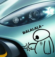2015 Newest Big Hero 6 Baymax Car Body Stickers Car Decal for Toyota Ford Chevrolet Volkswagen
