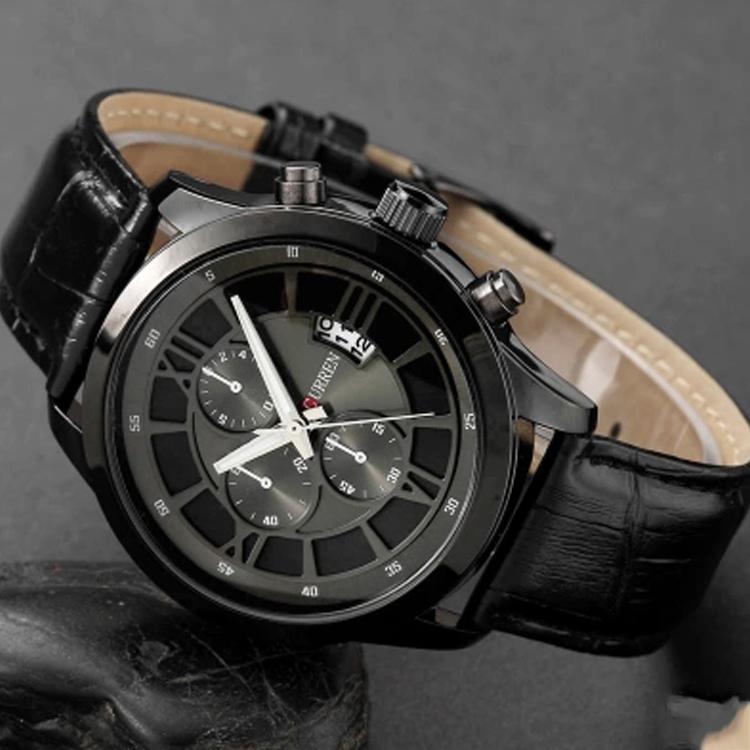 CURREN Fashion Men Sports Watches Men's Quartz Hour Date Clock Man Leather Strap Military Army Waterproof Wrist Watch Male 8137(China (Mainland))