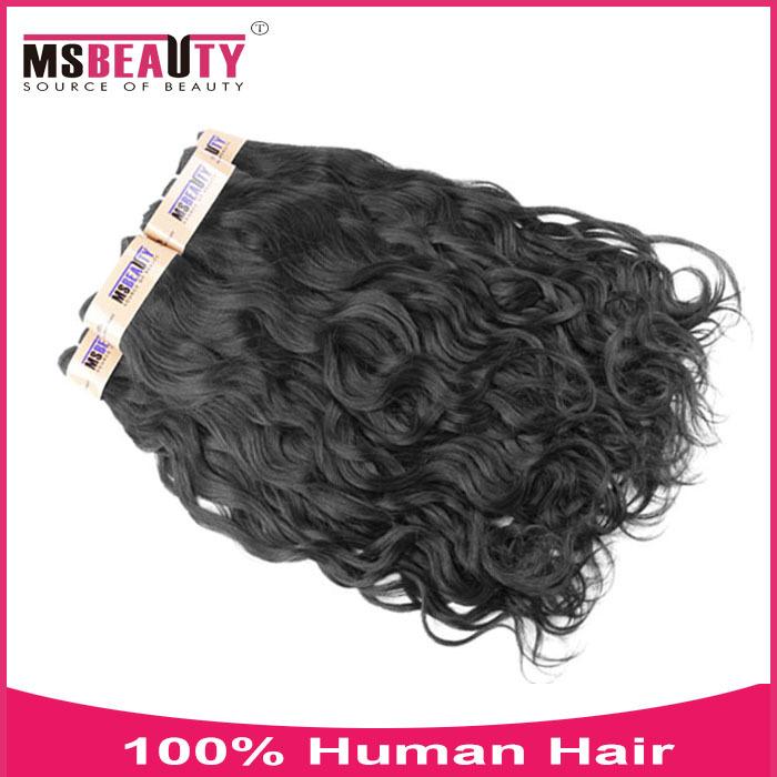 6A Maliysian Natural Wave Hair Extension 4pcs remy human hair weft 100%Unprocessed Virgin Human Hair Weave Wholesale Price(China (Mainland))