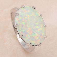 Huge Oval Rings Popular online  Blue fire Opal 925 Silver Ring  Fashion Jewelry  Rings USA size #6 #7 #8 #9 OR613 Free shipping