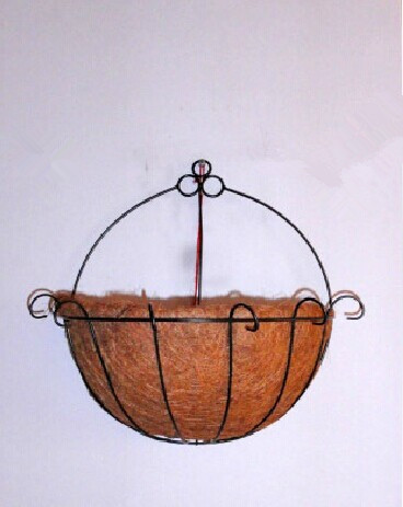 Coconut flower pot hanging basket rural style flowers, green flower(China (Mainland))