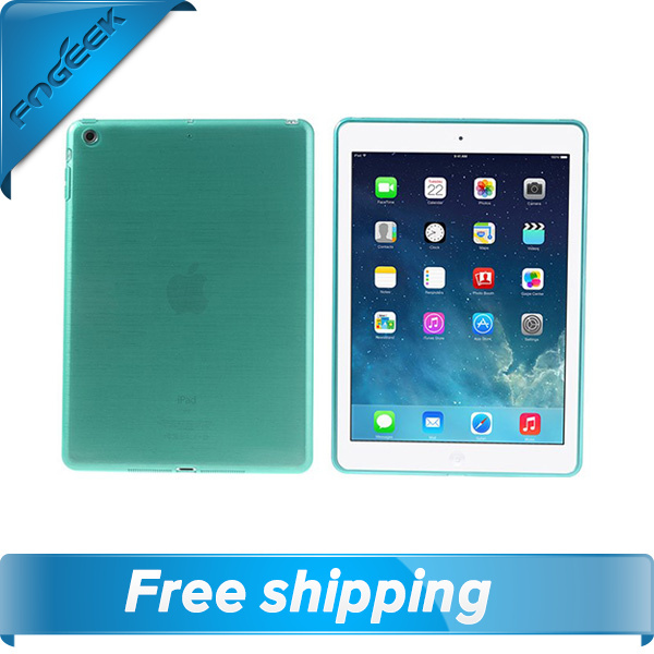 Free Shipping Brushed TPU Tablet Back Cover for iPad Air(China (Mainland))