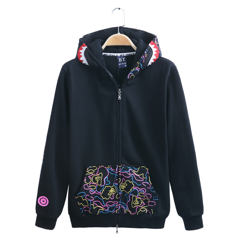 new 2015 sudaderas HOMBRE Men BAPE hoodie fllece man camouflage hip hop hoodies winter jacket  -  Maple - Fashion store