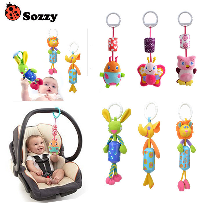 Hot Sale New Infant Toys Mobile Baby Plush Toy Bed Wind Chimes Rattles Bell Toy Stroller for Newborn BB12(China (Mainland))