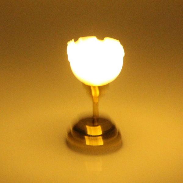 1:12 Scale Dollhouse Miniature Wall Desk Table Ceiling LED Lights Lamp Bedroom Living Room Furniture Decoration Acc Golden