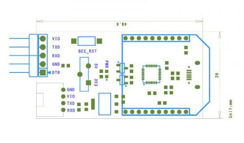 Foca Pro FT232RL Micro USB to Serial UART Converter Tiny Breakout with Xbee Shield for Arduino Iteaduino Tiny Attiny85-20