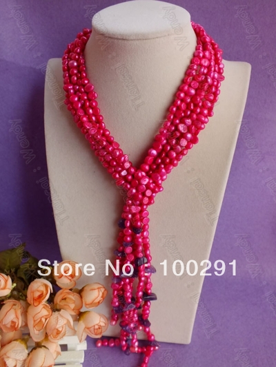 TTY=Amazing!!! Fashion Jewelry Freshwater Pearl Necklace Fit Party Wedding Gift - Online Store 937924 store