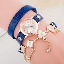 Fashion Bracelet Women Watch Poker Accessories Gold Chain Leather Dress Wristwatch Jewelry Quartz Watch Reloj Mujer
