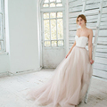 Sexy Sweetheart Wedding Dress Off The Shoulder Two Pieces Bridal Dress Lace Up Brides Dress Ruched