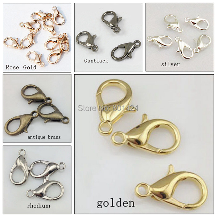 12mm 58 248 zinc alloy lobster clasp parrot clasps hook silver gold antique bronze rhodium claw