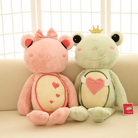 55cm Giant Stuffed Animals Kawaii Pillow Couple Frog Plush Toys Valentine Day Birthday Gift(China (Mainland))