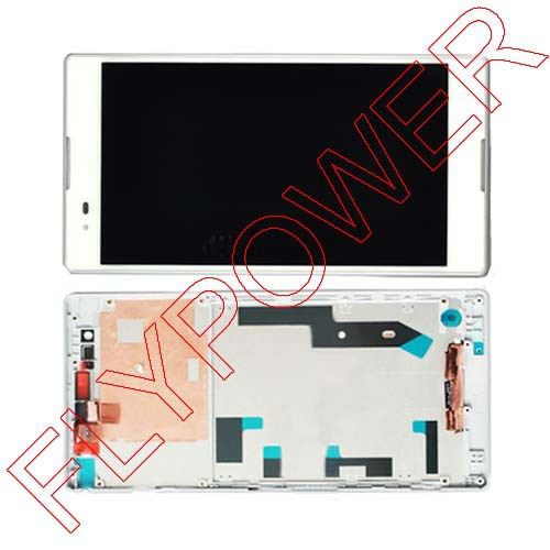 Display LCD+Touch Screen Digitizer + Frame Completed Assembly For Xperia T2 Ultra Dual D5322 XM50h White By Free Shipping