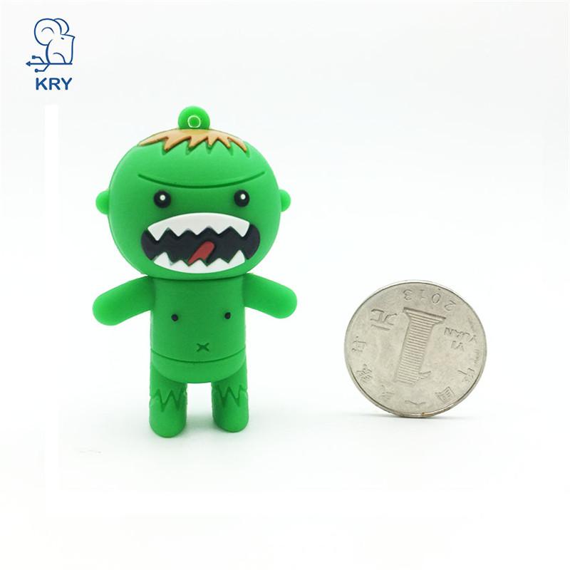 Cartoon USB Flash Drive 128GB 64GB 32GB 16GB 8GB 4GB Pen Drive Personalized The Hilk Gifts Flash Disk Memory Stick Mini USB Key(China (Mainland))